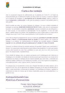 Ayuntamiento de Jadraque  Carta a los vecin@s