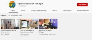 El Ayuntamiento de Jadraque crea un nuevo canal en la plataforma YouTube.